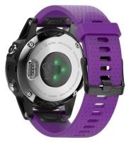 Unbranded Silicone Band for Garmin Fenix 5s/ 5s Plus - Purple Photo