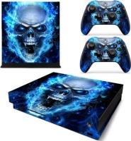 SKIN NIT SKIN-NIT Decal Skin For Xbox One X: Blue Skull Photo