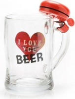 Equico Beer Mug with Bell & Text Photo