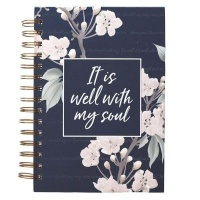 Christian Art Gifts Inc It Is Well Large Wirebound Journal in Navy Photo