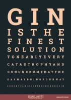 Ginsanity A4 Poster - The Gin Eye Test Photo