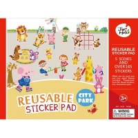 JarMelo Re-Usable Sticker Pad Set: City Park Photo