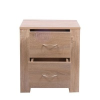 Kaio Turin 2 Drawer Bedside Table Photo