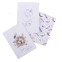 Christian Art Gifts Inc God is our Refuge set of 3 - Psalm 46:1 Notebook Set Photo