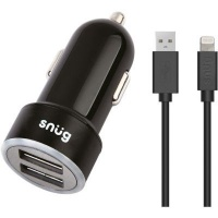 Snug Car Juice 3.4A 2-Port Car Charger With Lightning Cable Photo