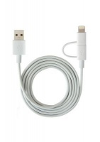 Ultralink Ultra Link Iphone & Android Dual Sync & Charge Cable - White Photo