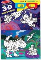 Melissa & Doug 3D Colouring Puzzles - Space/Dinosaurs Photo