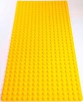 Bricks & Pieces - Block Baseplate 16x32 - Yellow Photo