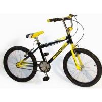 "Peerless BMX & Mountain Hybrid Bicycle 20"" - Black & Yellow Photo"
