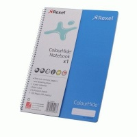 Rexel Colourhide Feint Rule Perforated Notebook with a 2 Year Calender Photo