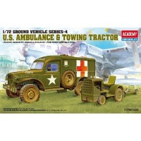 Academy Ground Vehicle Series 4: US Ambulance & Towing Tractor Model Kit Photo