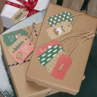 Ginger Ray Christmas Patterns Luggage Tags Photo