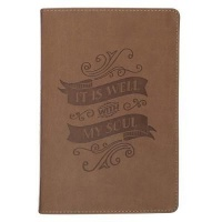 Christian Art Gifts Inc It Is Well With My Soul Brown Classic Journal Photo