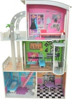 Doll House Modern 3 Level with Curved Roof Lift & Furniture Photo