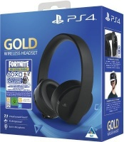 Sony Playstation Gold Wireless Over-Ear Headphones and Fortnite Neo Versa Bundle Photo