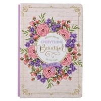 Christian Art Gifts Inc Beautiful In It's Time Quarter-Bound Hardcover Journal in White - Ecclesiastes 3:11 Photo