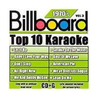 Billboard Top 10 Karaoke:70's Vol 3 CD Photo