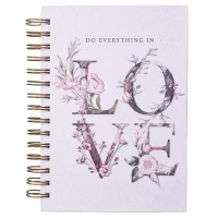 Christian Art Gifts Inc Do Everything In Love Large Wirebound Journal in White Photo