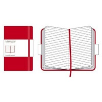 Moleskine Ruled Notebook - 9x14cm - Hard Cover - 192 pages - Red Photo