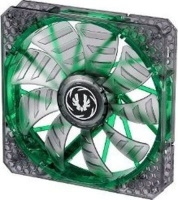 Bitfenix Spectre Pro Transparent Fan with Green LED and Curved Design Fin for Focused Airflow Photo