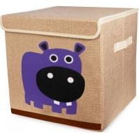Animal Canvas Storage Box - Hippo Photo