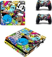 SKIN-NIT Decal Skin For PS4 Slim: Sticker Bomb 2019 Photo