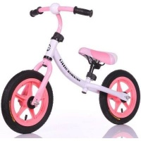 Little Bambino Balance Bike with Adjustable Seat- Pink and White Photo