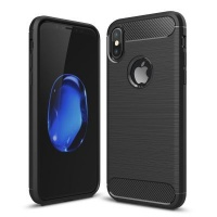 Tuff Luv Tuff-Luv Brushed Carbon Fiber Style Protective Shockproof Shell Case for Apple iPhone X Photo