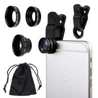 Raz Tech Universal 3-in-1 Camera Lens Kit for Smartphones Tablets iPad and Laptops Photo