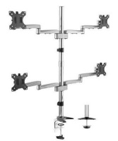 """Brateck Lumi LDT15-C048 13-32"""" Dual-Arm Articulating Wall Mount for Curved & Flat Panel TVs - Up to 32kg Photo"""