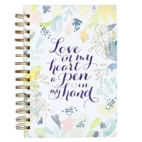 Christian Art Gifts Inc Love In My Heart A Pen In My Hand Large Journal Photo