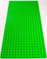 Bricks & Pieces - Block Baseplate 16x32 - Green Photo