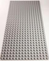 Bricks & Pieces - Block Baseplate 16x32 - Grey Photo