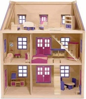 Melissa & Doug Doll Houses And Accessories - Multi-Level Wooden Dollshouse Photo