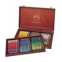"Caran Dache Neocolor 2 Artists Watercolour Crayons - 84"" A Wooden Box Photo"