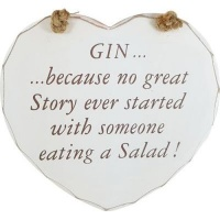 Gin Tribe Heart Plaque - Gin Story Photo
