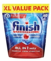 Finish All In One Dishwashing Detergent Tablets 80's Photo