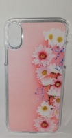 Lali and Me iPhone X Cell Phone Cover - Pink Daisy Photo