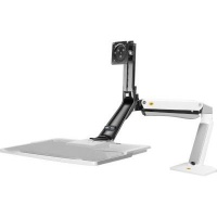 North Bayou Wall Mount Sit Stand Workstation - White Photo