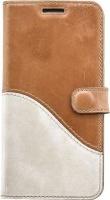 Samsung Tellur Book Case Genuine Leather Wave for S7 Edge Brown&White Photo
