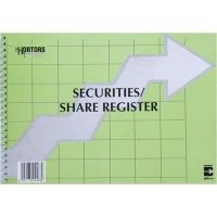 Hortors Share Register/ Securities Register Complete Book Photo