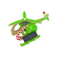 Robotime Solar Powered Helicopter - Green Photo