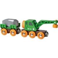 Brio Crane Wagon and Vehicle Photo