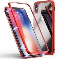 Red Magnetic Adsorption Phone Cover for iPhone X/ XS Photo