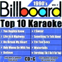 Billboard Top 10 Karaoke:90's Vol 2 CD Photo