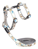 Rogz Catz GlowCat Reflective Glow-in-the-Dark Cat Lead and H-Harness Combination Photo
