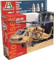 Italeri UH-60 Desert Hawk Helicopter Model Set Including Paints Photo