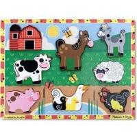 Melissa Doug Melissa & Doug Farm Chunky Cardboard Puzzle Photo