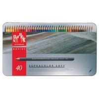 """Caran D Ache Supracolor Soft - Set of 40"""" Metal Tin Photo"""
