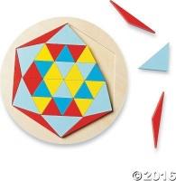 Mindware Wooden Star Mosaic Puzzle Photo